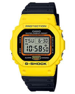 BLACK  YELLOW MENS ACCESSORIES G SHOCK WATCHES - DW5600TB-1DBLKYW