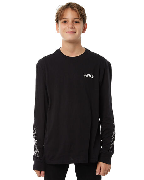 BLACK KIDS BOYS HURLEY TEES - AB941944010