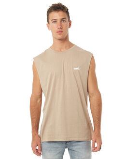 BEIGE MENS CLOTHING BARNEY COOLS SINGLETS - 147-MC4BEIGE