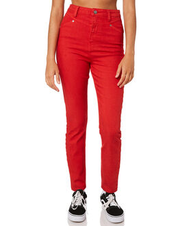 RED WOMENS CLOTHING VOLCOM JEANS - B1911905RED