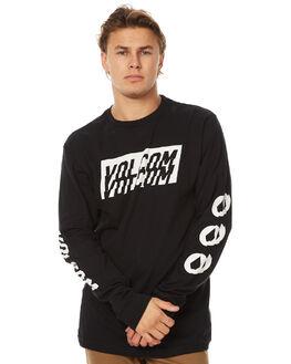 BLACK MENS CLOTHING VOLCOM TEES - A3631700BLK