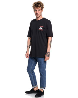 BLACK MENS CLOTHING QUIKSILVER TEES - EQYZT04995KVJ0