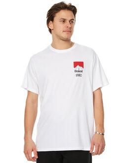 OPTIC WHITE MENS CLOTHING ELEMENT TEES - 173008AOWHT