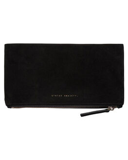 BLACK WOMENS ACCESSORIES STATUS ANXIETY PURSES + WALLETS - SA1411BLK