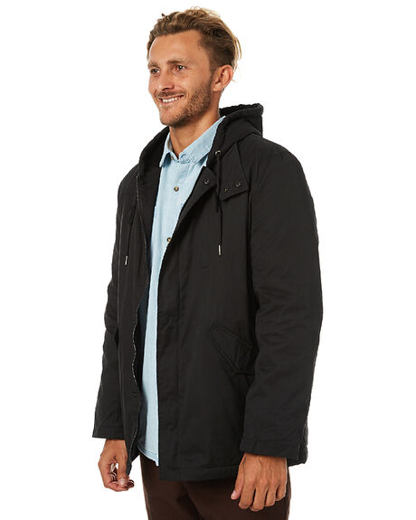 BLACK MENS CLOTHING SWELL JACKETS - S5173384BLK