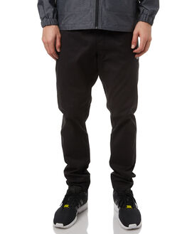 BLACK MENS CLOTHING RVCA PANTS - R371272BLK