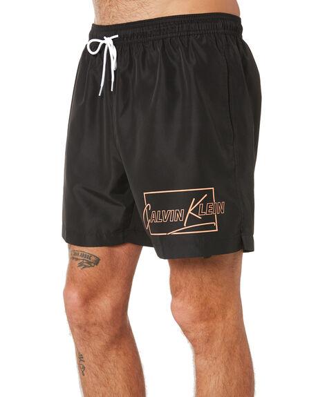 BLACK MENS CLOTHING CALVIN KLEIN BOARDSHORTS - KM00431-BEH