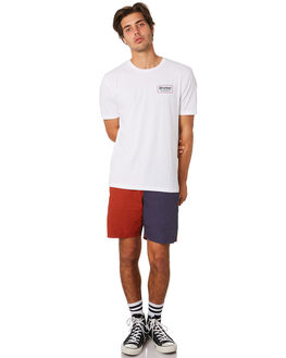 WHITE RUST MENS CLOTHING BRIXTON TEES - 06528WHRST