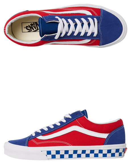 TRUE BLUE RED MENS FOOTWEAR VANS SNEAKERS - VNA3DZ3U8HRED
