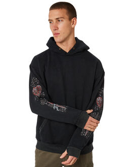 BLACK MENS CLOTHING RUSTY JUMPERS - FTM0846BLK