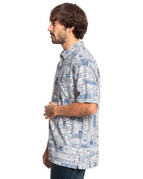 FLINT GRAY TOTAL ISL MENS CLOTHING QUIKSILVER SHIRTS - EQMWT03384-SJM6