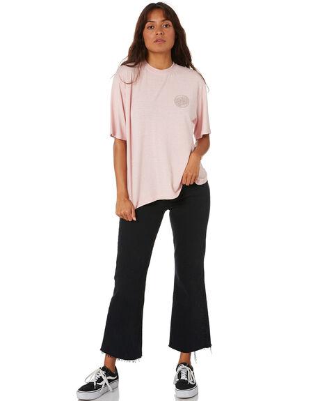 DUSTY PINK WOMENS CLOTHING SANTA CRUZ TEES - SC-WTC0171SPNK