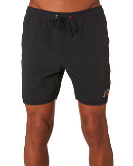DIRTY BLACK MENS CLOTHING BANKS BOARDSHORTS - BSE0218DBL