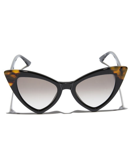 GLOSS BLACK TORT WOMENS ACCESSORIES VALLEY SUNGLASSES - S0479GBLK