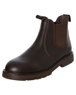 BROWN LEATHER WOMENS FOOTWEAR ROC BOOTS AUSTRALIA BOOTS - JUMBUKBRN