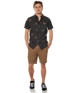 VINTAGE BLACK MENS CLOTHING GLOBE SHIRTS - GB01714007VBL