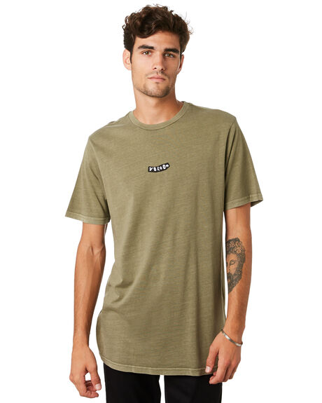 ARMY GREEN COMBO MENS CLOTHING VOLCOM TEES - A4331973ARC