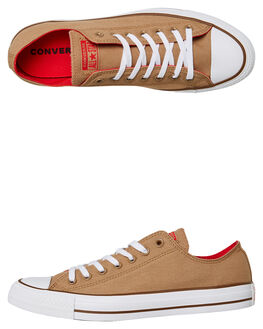 TEAK RED BROWN MENS FOOTWEAR CONVERSE SNEAKERS - 162454TEAK