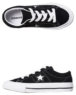BLACK KIDS BOYS CONVERSE SNEAKERS - 658369BLK