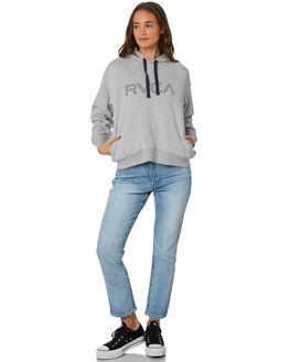 GREY MARLE WOMENS CLOTHING RVCA JUMPERS - R293162GRYMA