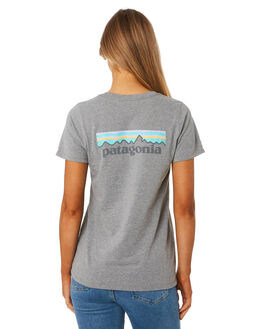 GRAVEL HEATHER WOMENS CLOTHING PATAGONIA TEES - 39362GLH