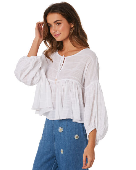 IVORY WOMENS CLOTHING FREE PEOPLE FASHION TOPS - OB843137-1103