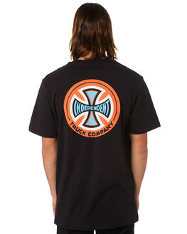 BLACK MENS CLOTHING INDEPENDENT TEES - IN-MTC7124BLK
