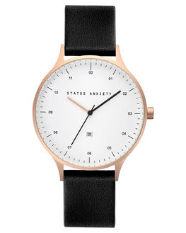 GOLD WHITE BLACK MENS ACCESSORIES STATUS ANXIETY WATCHES - SA1532GDWBL