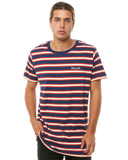 RED MENS CLOTHING ROLLAS TEES - 152653422