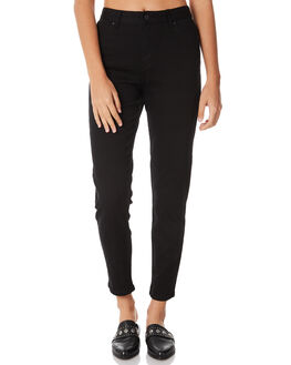 BLACK WOMENS CLOTHING AFENDS JEANS - 53-02-006BLK