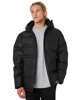 BLACK MENS CLOTHING HUFFER JACKETS - MDJA91S1301BLK