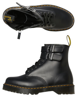 BLACK SMOOTH MENS FOOTWEAR DR. MARTENS BOOTS - SS24633001BLKM