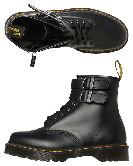 BLACK SMOOTH WOMENS FOOTWEAR DR. MARTENS BOOTS - SS24633001BLKW