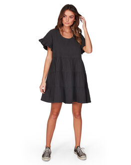 BLACK WOMENS CLOTHING BILLABONG DRESSES - BB-6507474-BLK