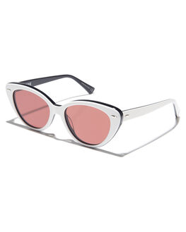 WHITE BLACK ROSE WOMENS ACCESSORIES EPOKHE SUNGLASSES - 0802WHTBLKPORSEWBLKR