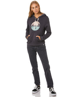OIL GREY HEATHER WOMENS CLOTHING HURLEY JUMPERS - CT4714097