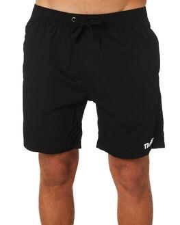 BLACK MENS CLOTHING THRILLS BOARDSHORTS - TA9-301BBLK