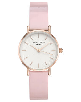 WHITE PINK ROSE GOLD WOMENS ACCESSORIES ROSEFIELD WATCHES - SHPWR-H37WHPKR