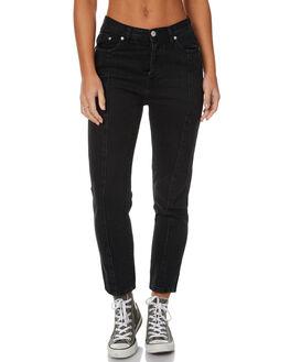 BLACK DUST WOMENS CLOTHING ZIGGY JEANS - ZW-1302BLKD