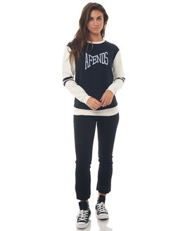 BLACK WHITE WOMENS CLOTHING AFENDS JUMPERS - W181501BLKWHT