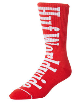 SCARLET MENS CLOTHING HUF SOCKS + UNDERWEAR - SK00258-SCARL