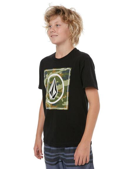 BLACK KIDS BOYS VOLCOM TEES - C35417T2BLK