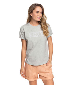 HERITAGE HEATHER WOMENS CLOTHING ROXY TEES - ERJZT04808-SGRH