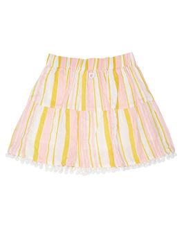 WHITE HONEY PINK STRIPE KIDS GIRLS EVES SISTER SHORTS + SKIRTS - 8045025STR