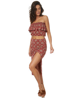 RUST RED WOMENS CLOTHING TIGERLILY FASHION TOPS - T372049RRED