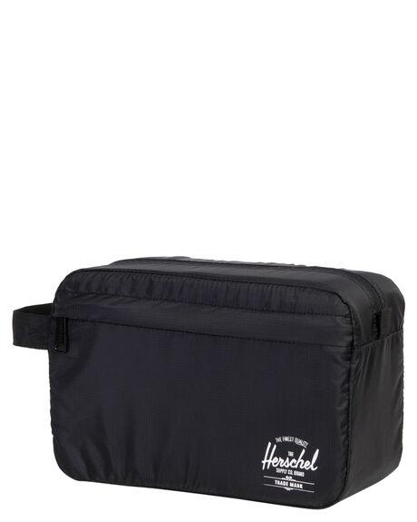 BLACK MENS ACCESSORIES HERSCHEL SUPPLY CO BAGS + BACKPACKS - 10533-00001-OSBLK