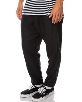 BLACK MENS CLOTHING INSTED WE SMILE PANTS - IWSLP1704BLK