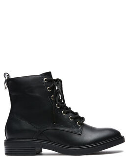 BLACK WOMENS FOOTWEAR THERAPY BOOTS - 9576BLK