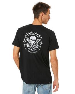 BLACK MENS CLOTHING SEA SHEPHERD TEES - SSA1000BLK