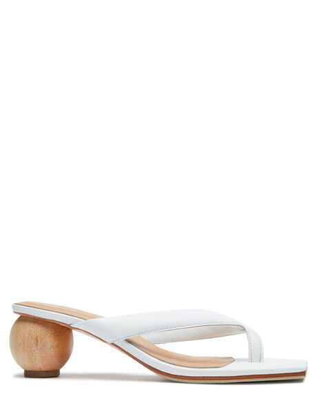 WHITE WOMENS FOOTWEAR JAMES SMITH FASHION SANDALS - SOLAROWHT